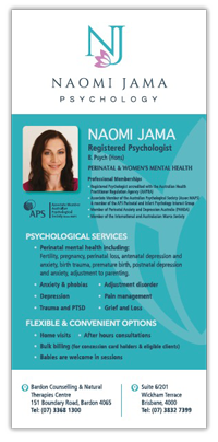Image of Naomi Jama Psychology Brochure